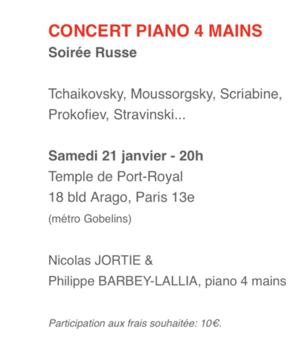 Concert 21 janvier