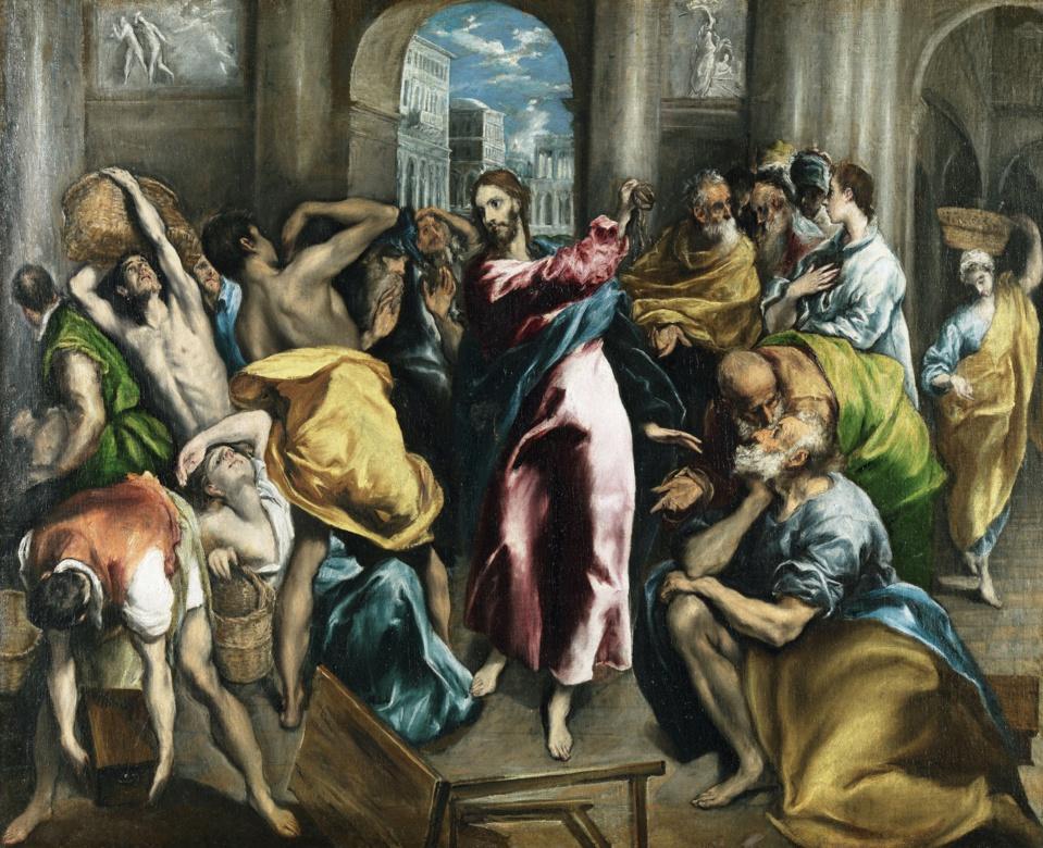 El Greco. Marchands du Temple