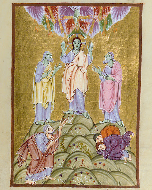 Transfiguration from Gospels of Otto III German (Reichenau School), Late 10th Century Munich, Bayerische Staatsbibliothek MS Clm 4453, fol.113r