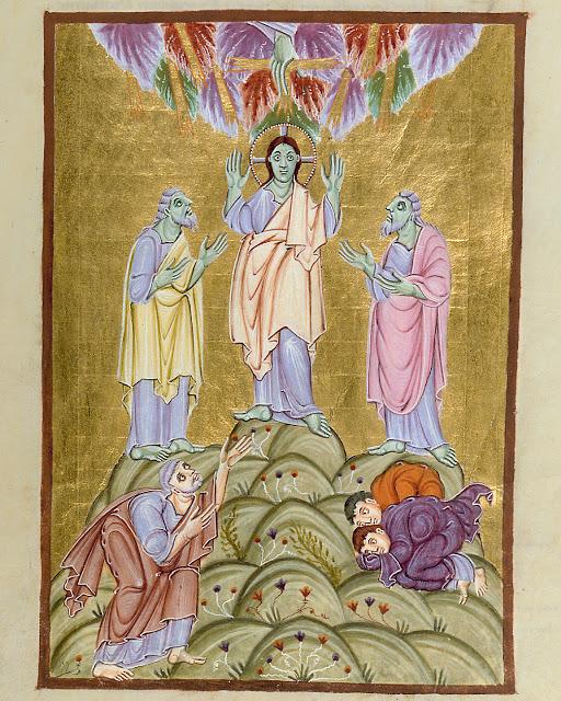 Transfiguration from Gospels of Otto III German (Reichenau School), Late 10th Century Munich, Bayerische Staatsbibliothek MS Clm 4453, fol.113r