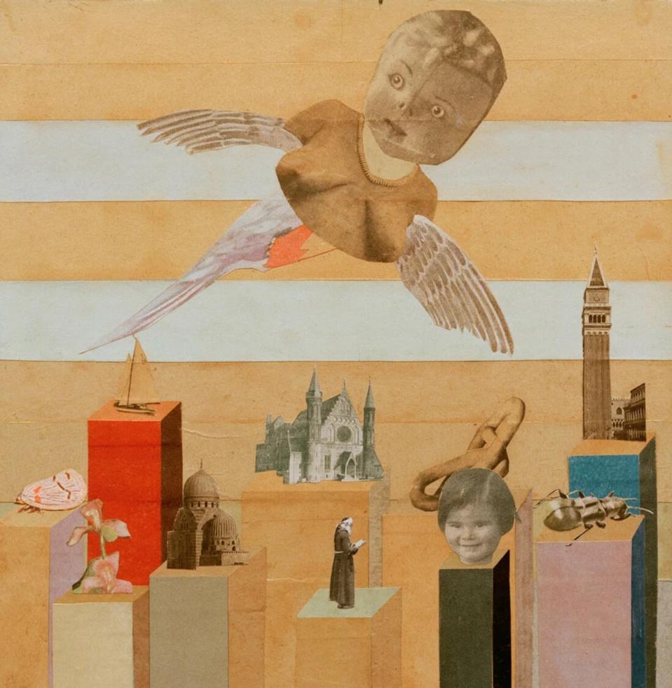 Hannah Höch, Ange gardien, 1927–1928  Collage sur carton • 25,4 × 24,4 cm • Berlinische Galerie, Berlin • © Akg-images