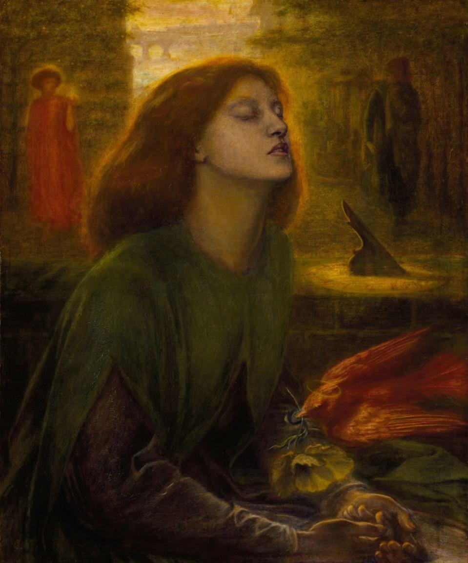 Dante Gabriel Rossetti, Beata Beatrix, 1872  Huile sur toile • 66 x 86,5 cm • Coll. National Gallery, Londres