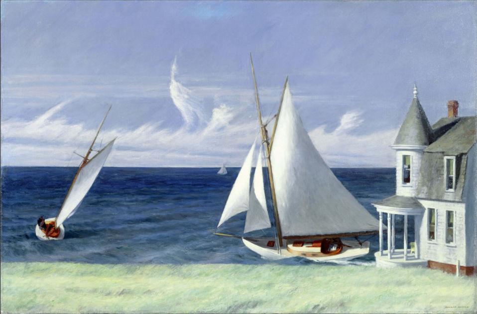 Edward Hopper, Lee Shore, 1941  19,7 x 30 cm • Collection privée