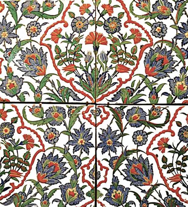 Carreaux de céramique ottomane (16e siècle)