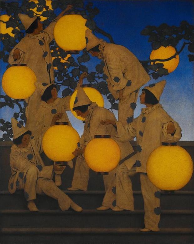 Maxfield Parrish Les Porteurs de lanternes
