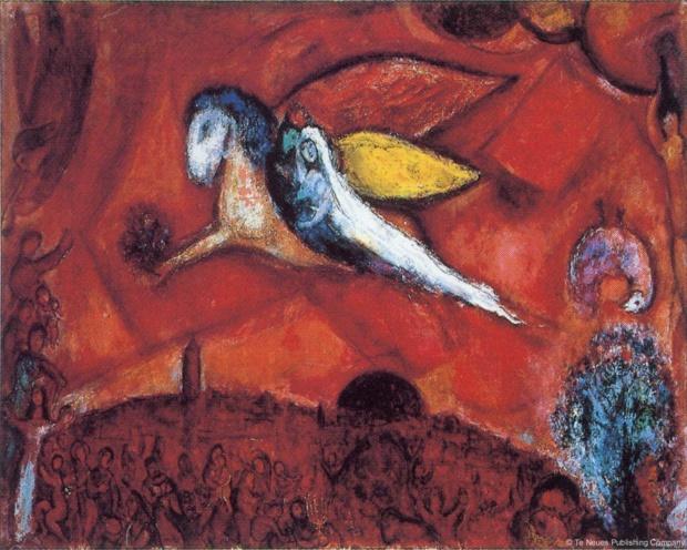 Marc Chagall Le cantique des cantiques IV