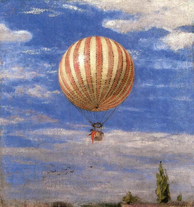 Pál Szinyei Merse  La montgolfière