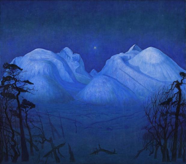 Harald Sohlberg Nuit d'Hiver dans les Montagnes