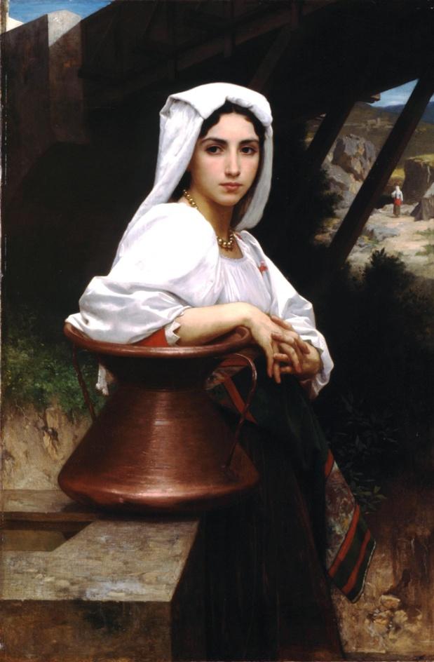 William-Adolphe Bouguereau Jeune italienne puisant de l'eau