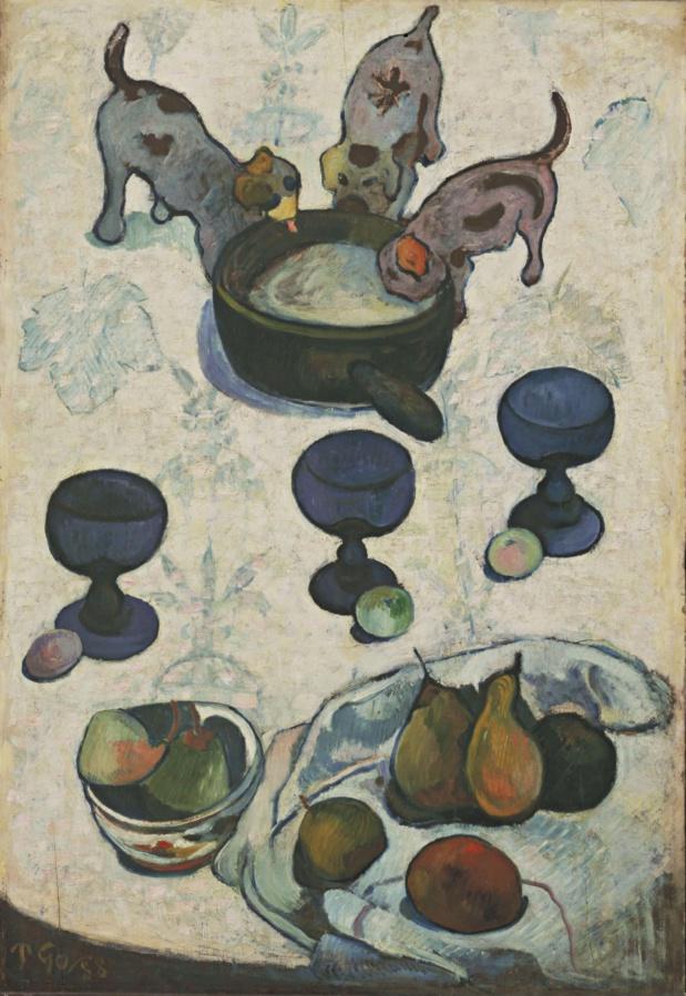 Paul Gauguin Nature morte aux trois chiots
