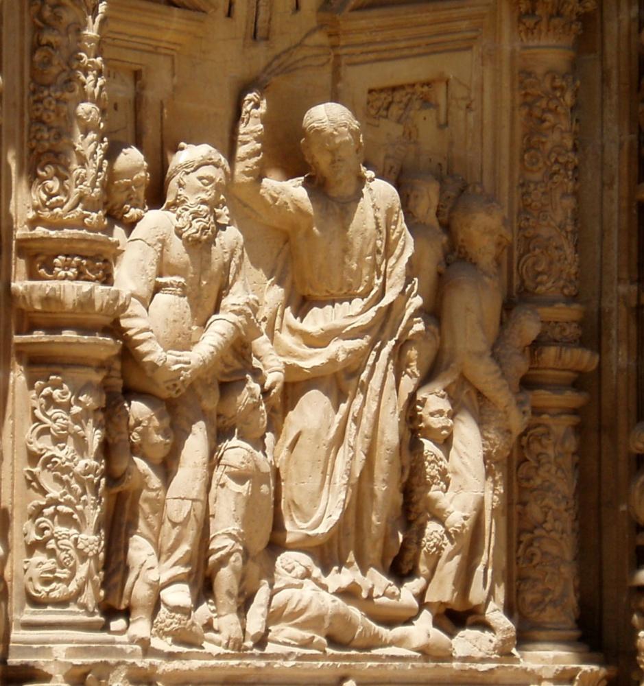 Jésus chasse les marchands