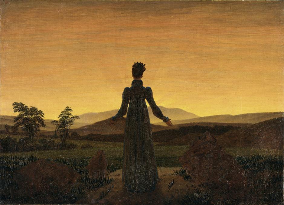 Caspar_David_Friedrich_-_Frau_vor_untergehender_Sonne (femme dans le soleil du matin)