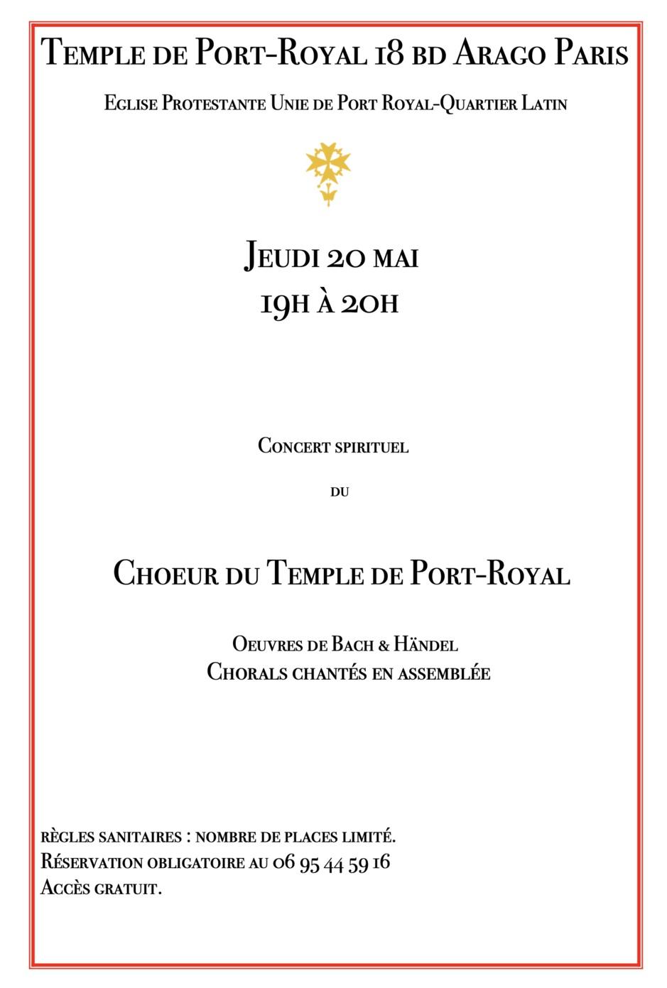 CONCERT DU TEMPLE DE PORT ROYAL