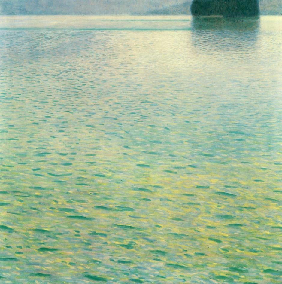 Gustav Klimt Ile dans l'Attersee