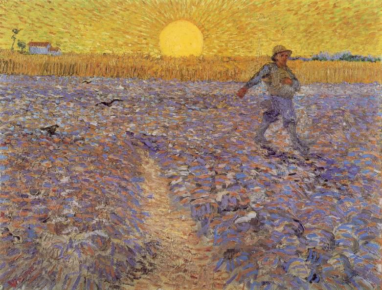 Le semeur au soleil couchant Vincent Van Gogh 1888