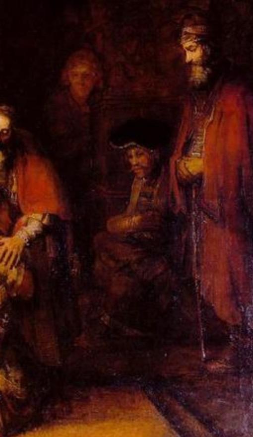 Focus sur le fils ainé (extrait d'une peinture de Rembrandt)