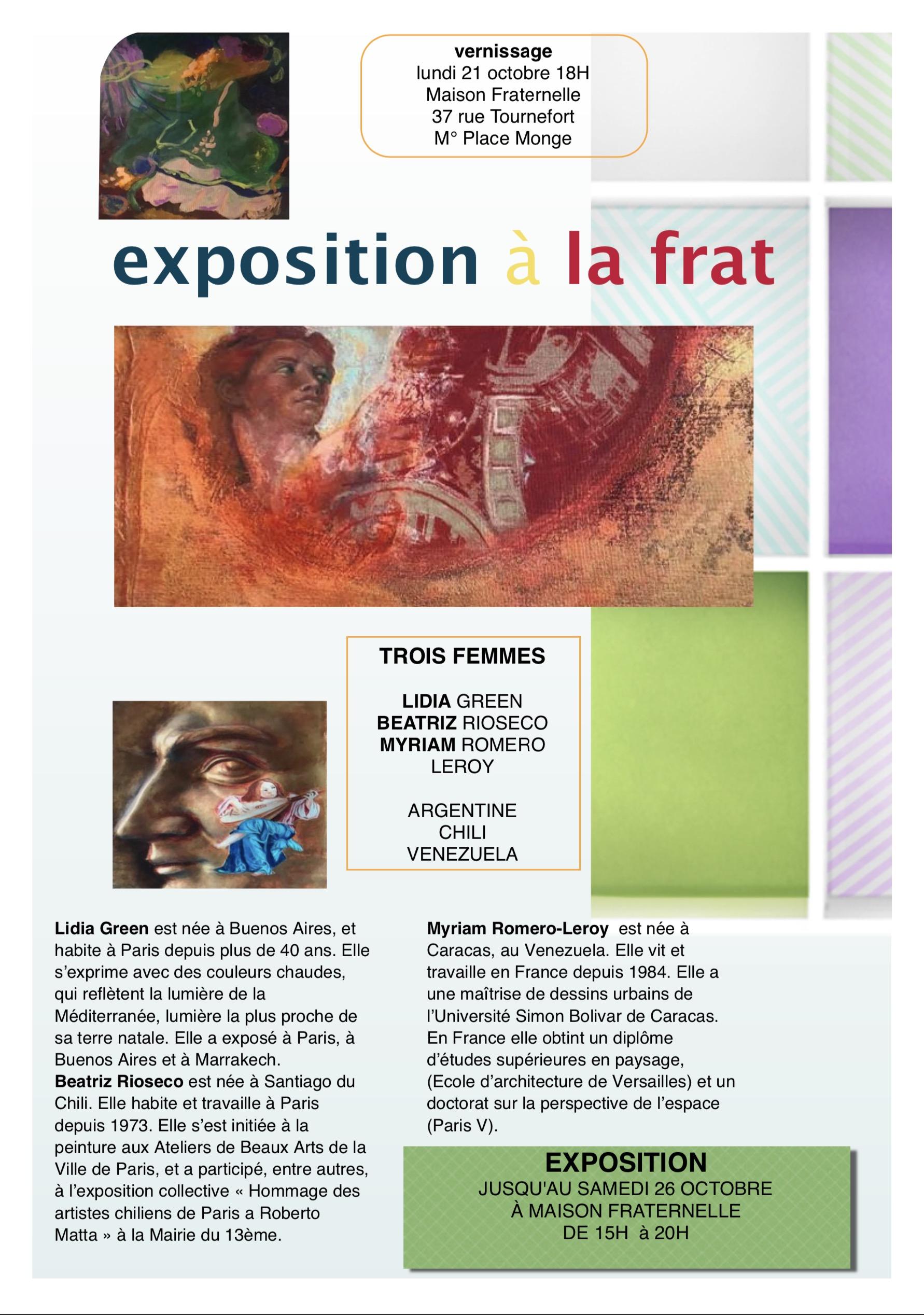 EXPOSITION À LA MAISON FRATERNELLE