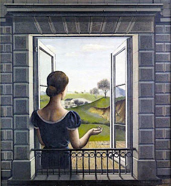 """Paul Delvaux. """"la fenêtre"""" 1936"""