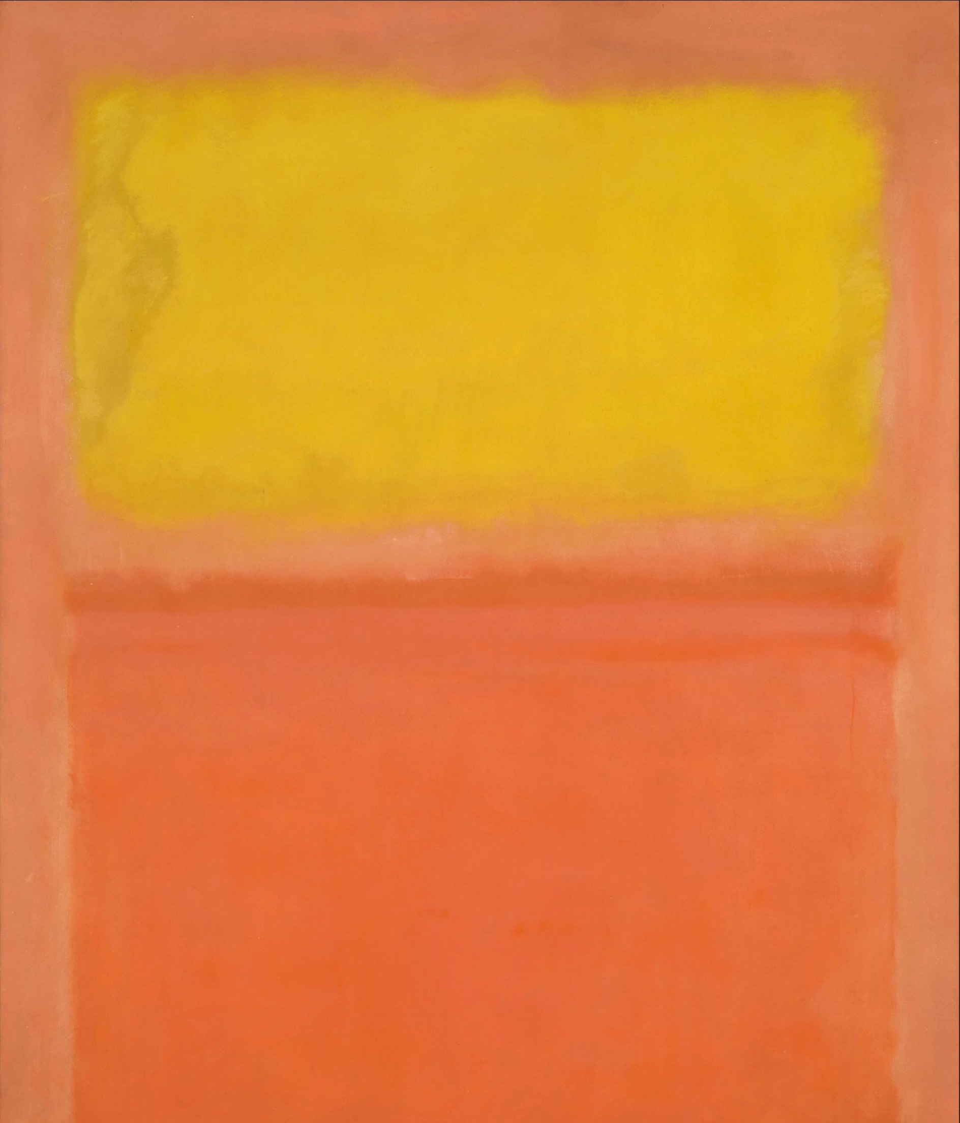 Mark Rothko, Orange and yellow, 1956  Huile sur toile • 231,1 × 180,3 cm • Buffalo, Albright-Knox Art Gallery • © 1998 Kate Rothko Prizel & Christopher Rothko / Adagp, Paris / Albright-Knox Art Gallery