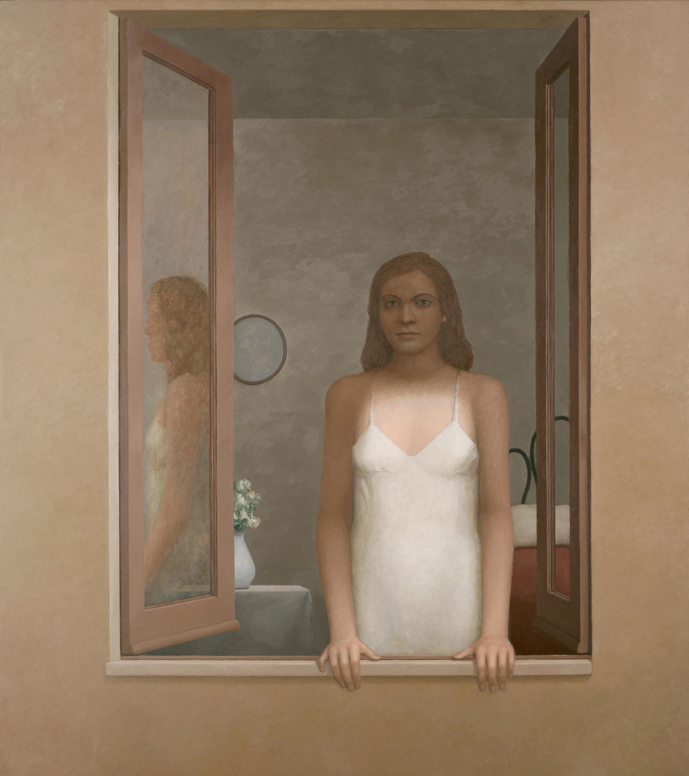 """En hommage à Mr. Bailey's, mort ce mois d'avril 2020""""L'Attesa"""" (2006). Ses figures féminines sont d'une impassibilité déconcertante, implacables et illisibles.Credit...William Bailey/Betty Cuningham Gallery"""