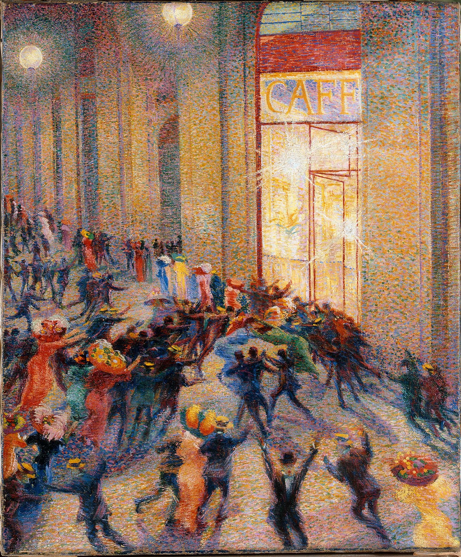 ATTENTION AU DÉCONFINEMENT  !Umberto Boccioni Emeutes sous les arcades