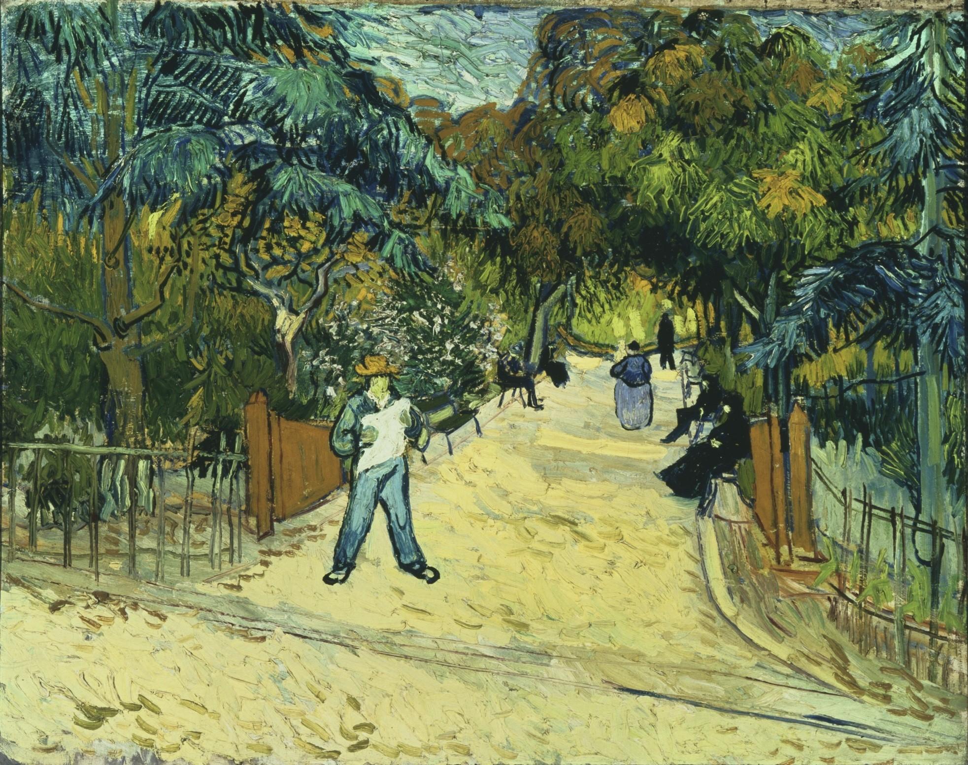 Vincent Van Gogh, entrée des jardins publics à Arles