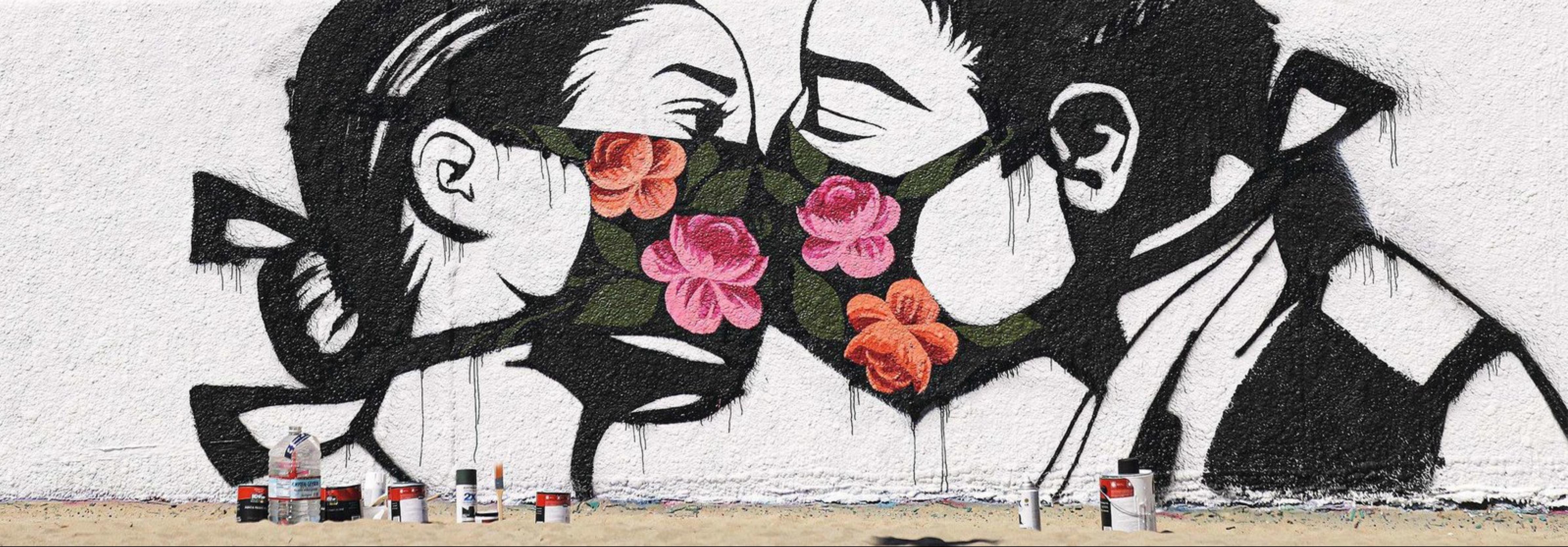 Mural Poney wave, Los Angeles 21 mars 2020