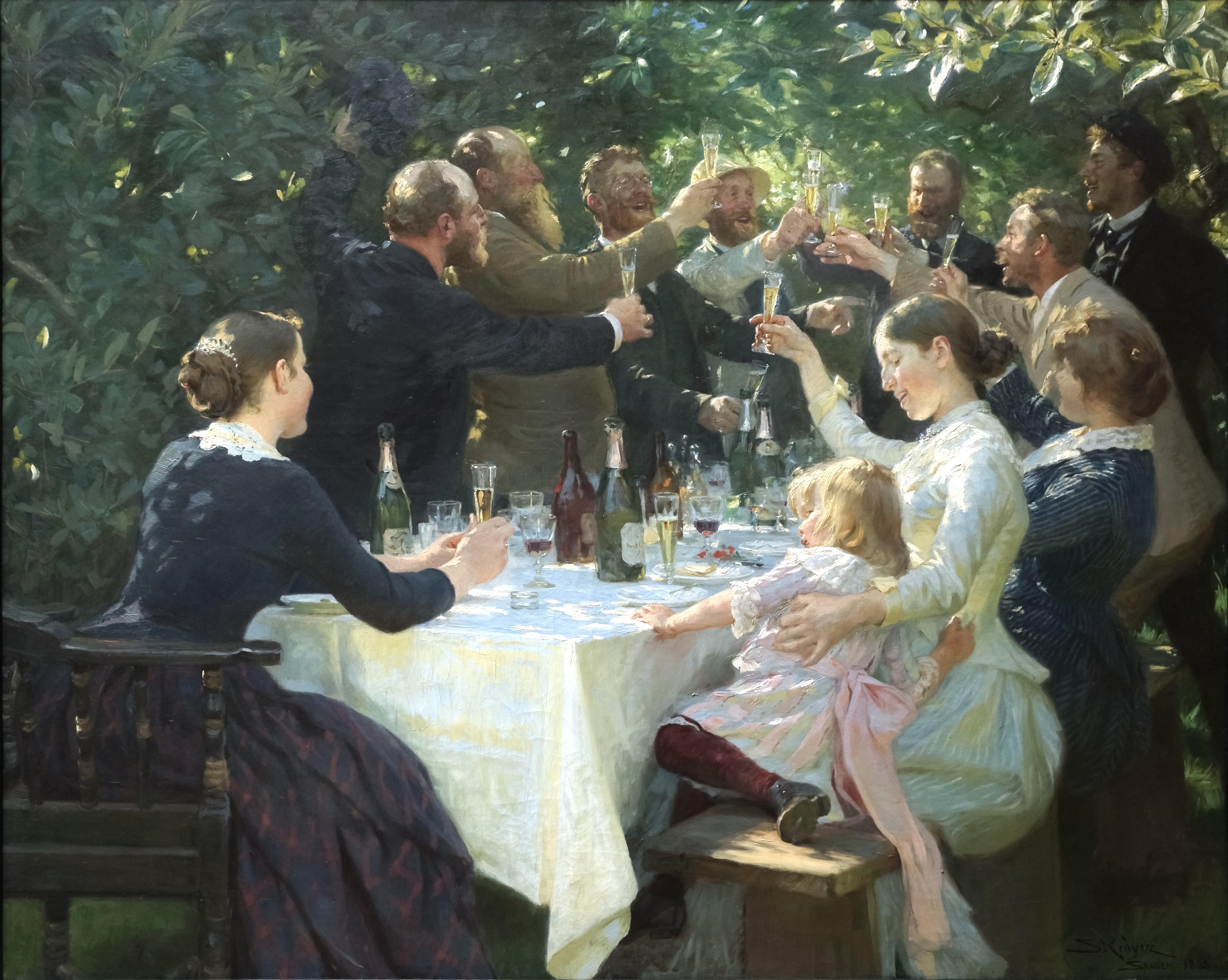 P.S. Krøyer Hip Hip Hourra! Fête d'artistes à Skagen