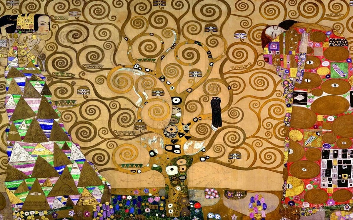 Gustav Klimt Arbre de la vie. Cliquer pour agrandir