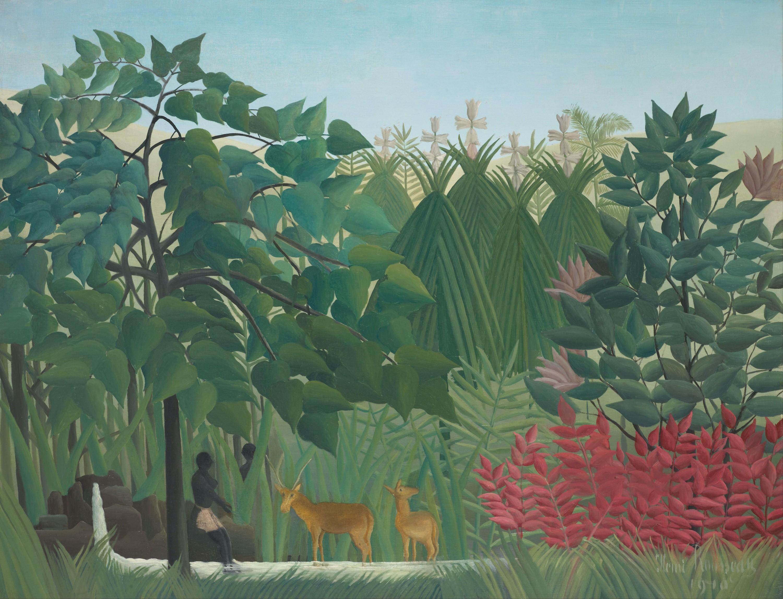 Henri Rousseau, la cascade