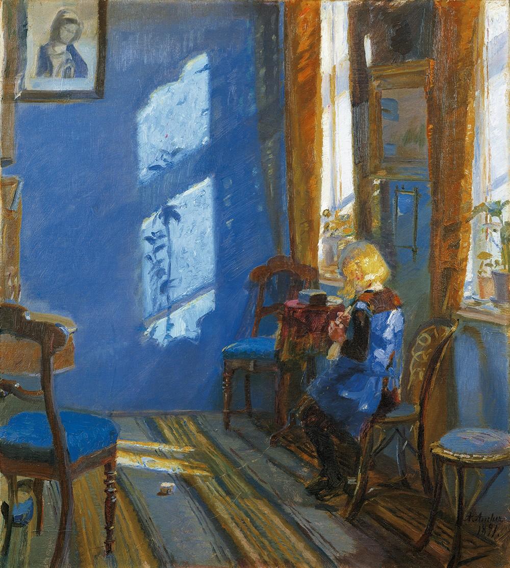 Anna Ancher La lumière du soleil dans la chambre bleue  (CLIQUER POUR AGRANDIR)