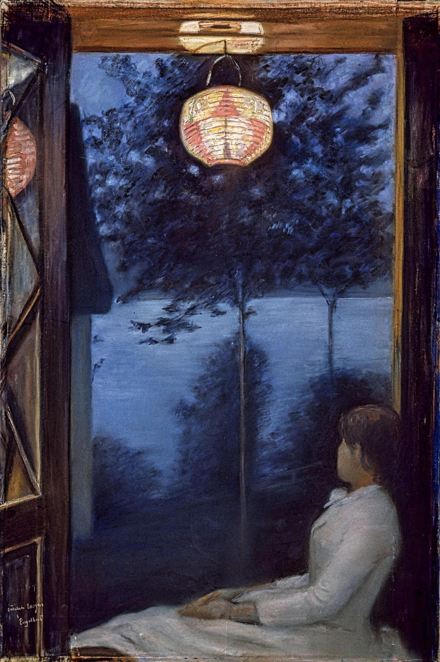 Oda Krohg Une Lanterne japonaise (CLIQUER POUR AGRANDIR)