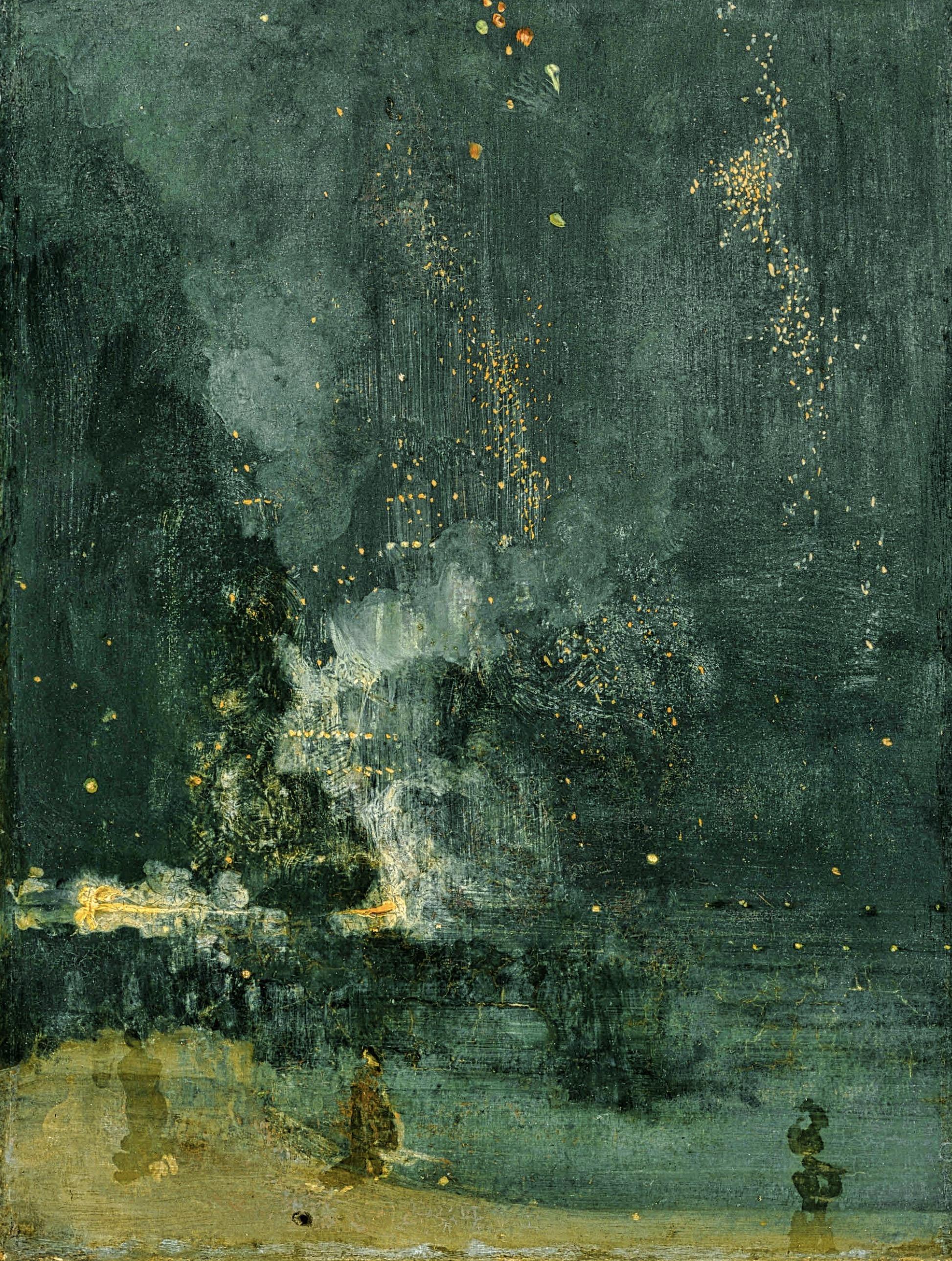 James Abbott McNeill Whistler Nocturne en noir et or. CLIQUER POUR AGRANDIR