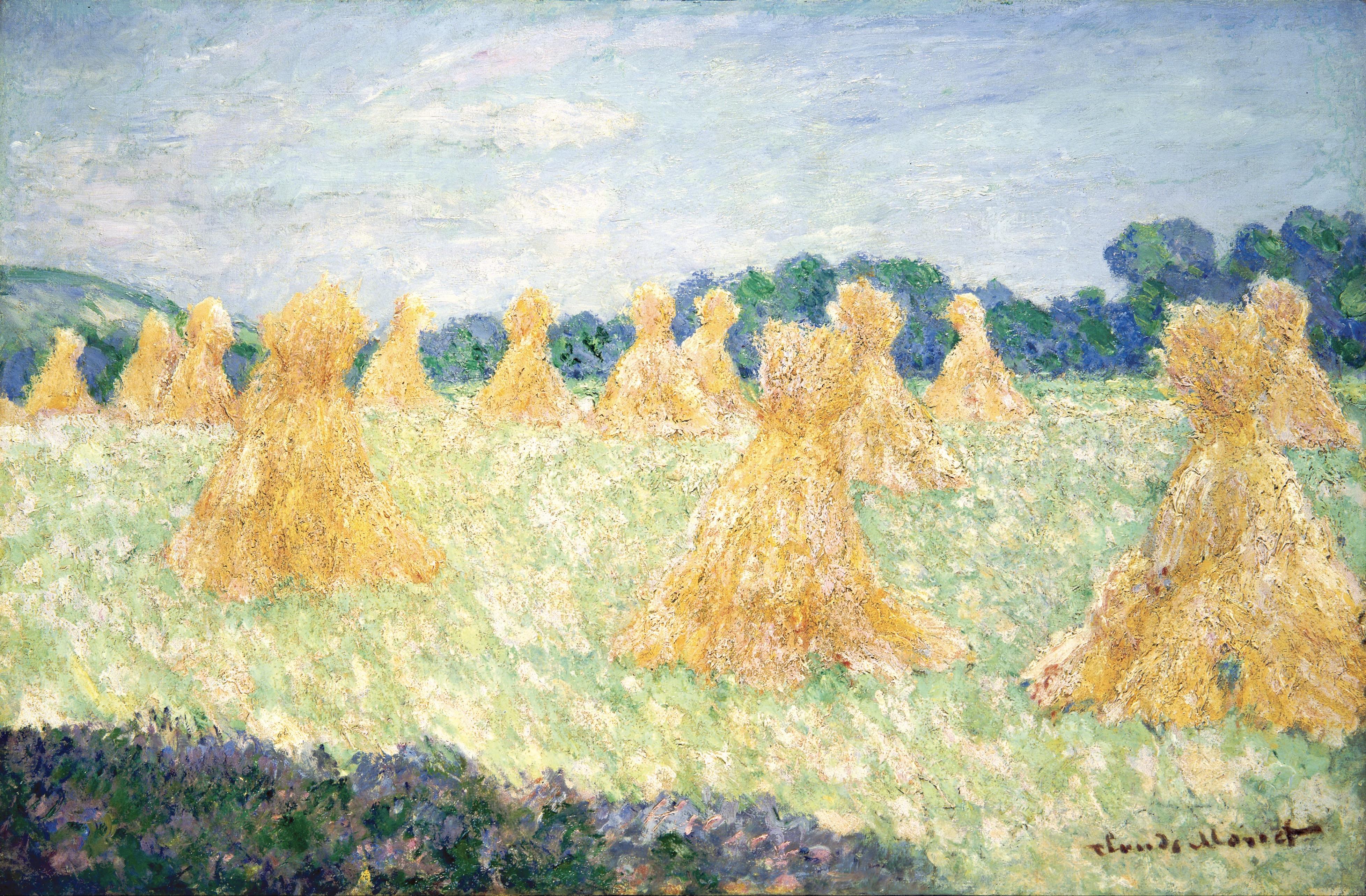 Claude Monet Les Jeunes Femmes de Giverny, Effets de Soleil