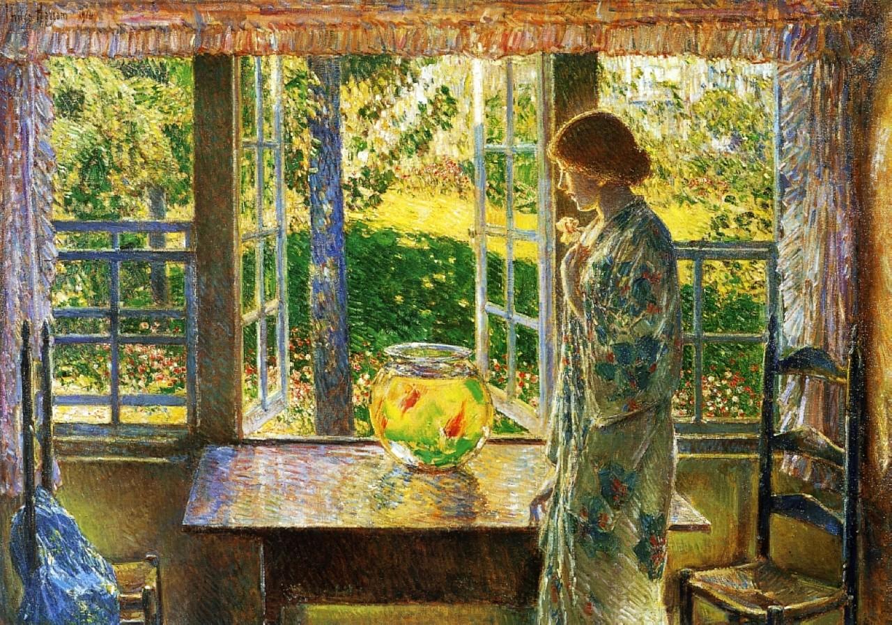 Frederick Childe Hassam La Fenêtre du Poisson Rouge