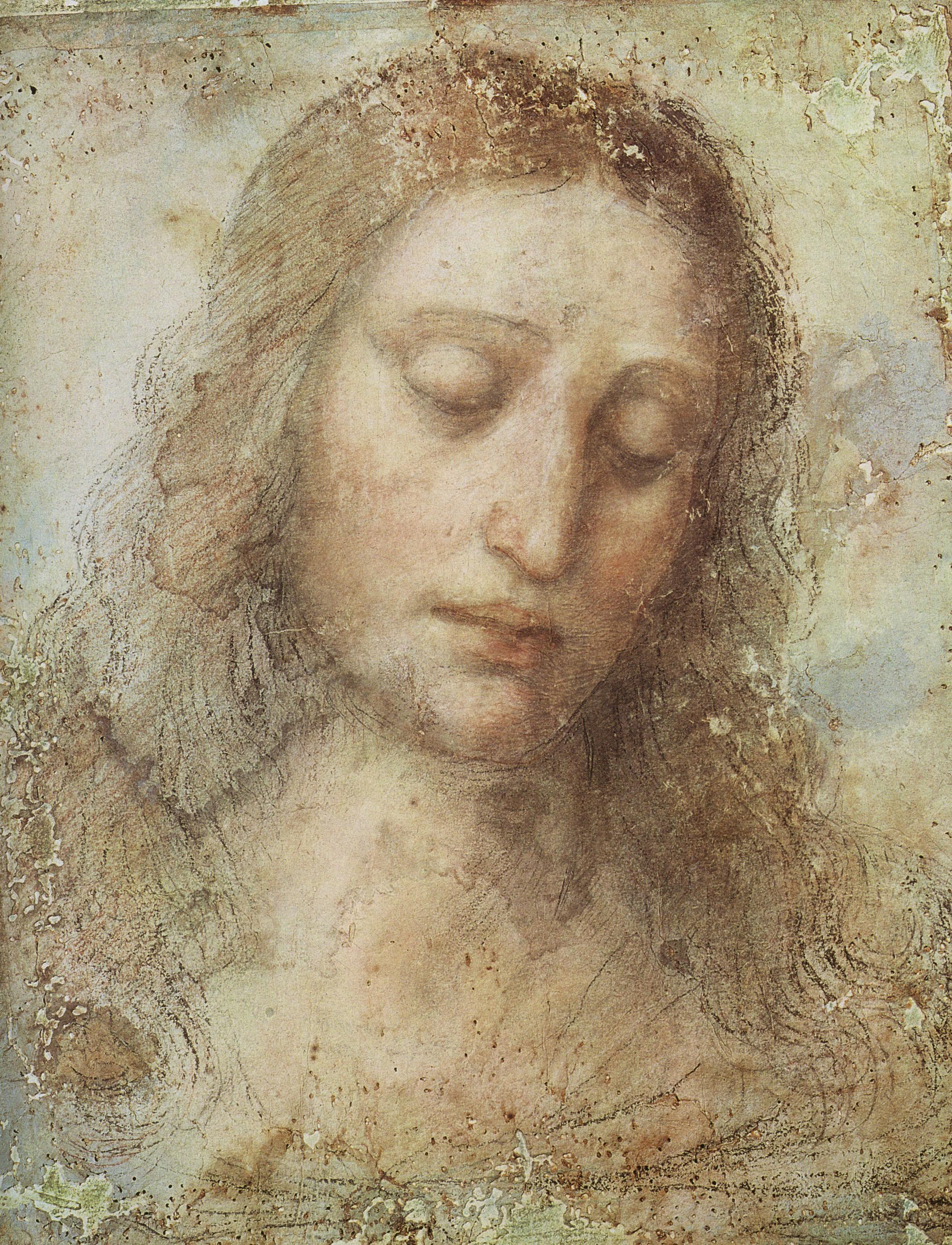 Leonardo da Vinci Tête du Christ