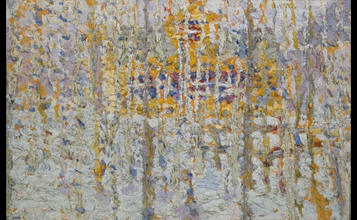 Kasimir Malevitch Paysage à la Maison Jaune (Paysage d'Hiver)