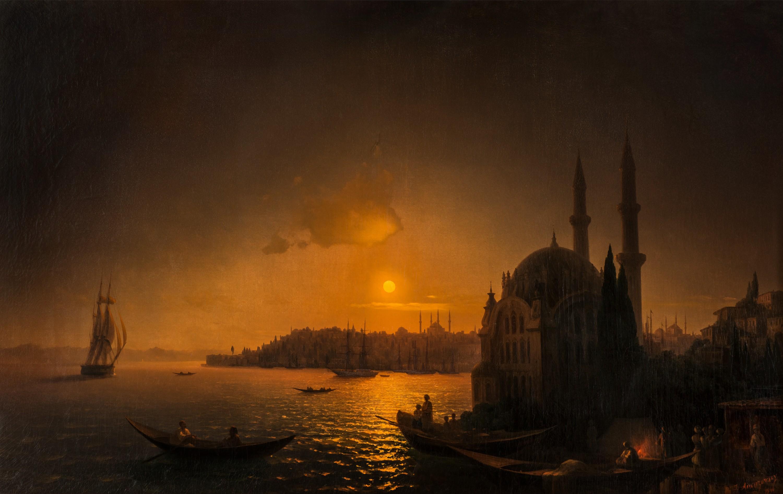 Ivan Aivazovsky Vue de Constantinople au clair de lune